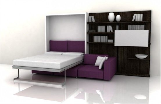 Versatile furniture be the answer for you who want to maximize every function of your room. If you have a small room and you want so you can do many things in your room then you need to deliver versatile furniture like this. The following is a furniture design in the form of cabinets, a sofa and a folding bed combined into one.