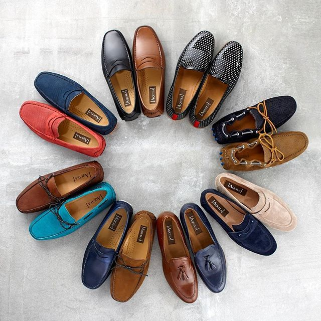 Try this season's #loafers for a new spin on a #summer classic.  #AquilaShoes #MenShoes #Shoes