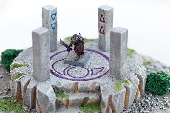 Fantasy Altar - Wargaming Terrain, RPG Warhammer, Custom, Warhammer, 28mm Terrain, Scenery, RPG, Age of Sigmar
