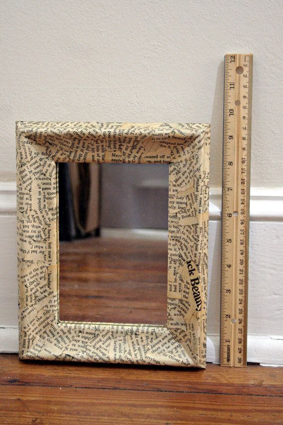 decoupage mirror frame