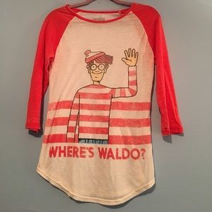 I just discovered this while shopping on Poshmark: Where's Waldo shirt. Check it out! Price: $8 Size: M, listed by savswagger