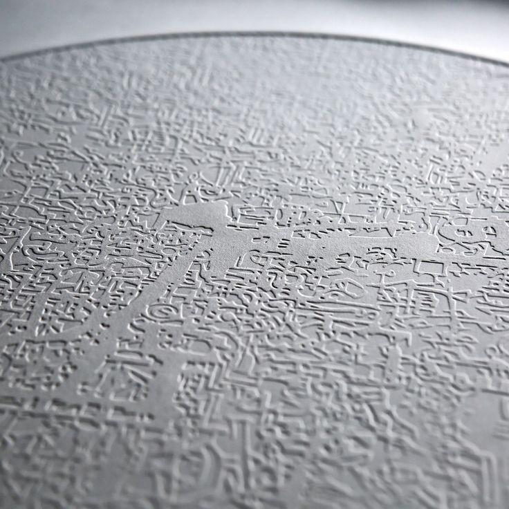 Stefan Blom | 'into the light fantastic' detail 580mm diameter, embossed on cotton paper.