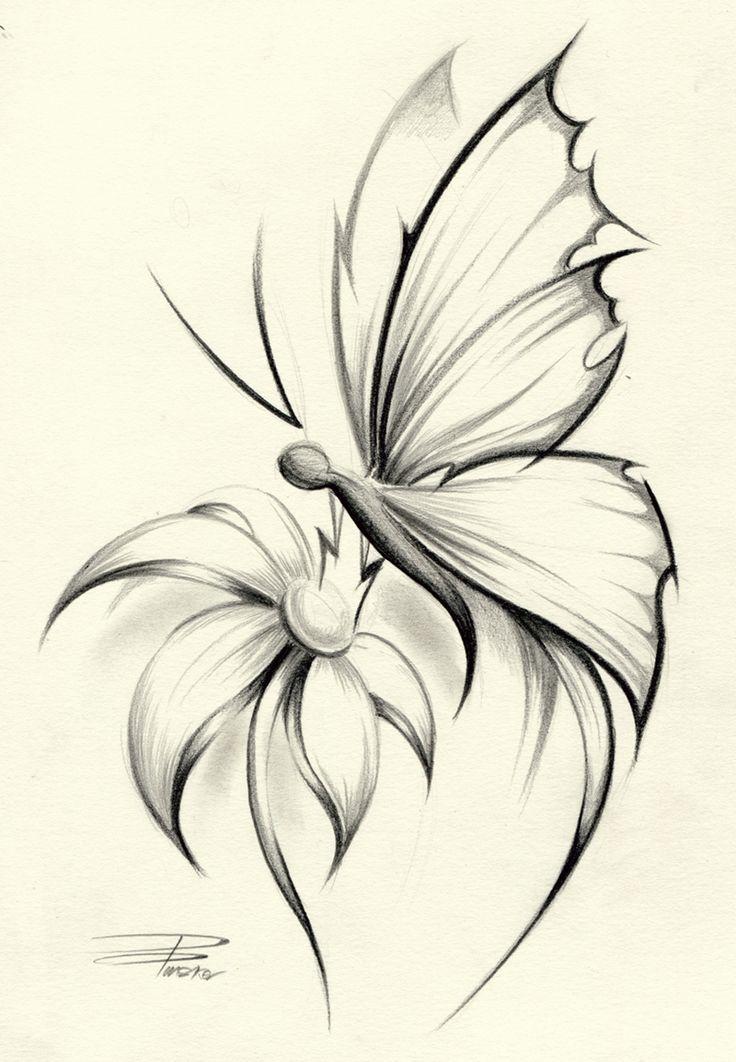 Butterfly Flower by ~davepinsker on deviantART