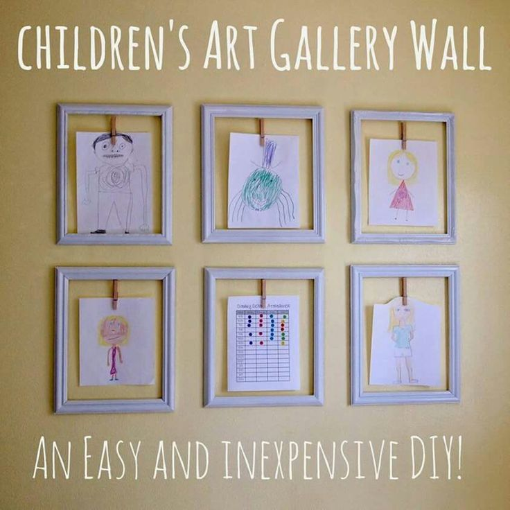 Add this to the playroom wall! No more refrigerator fights over space for artwork!