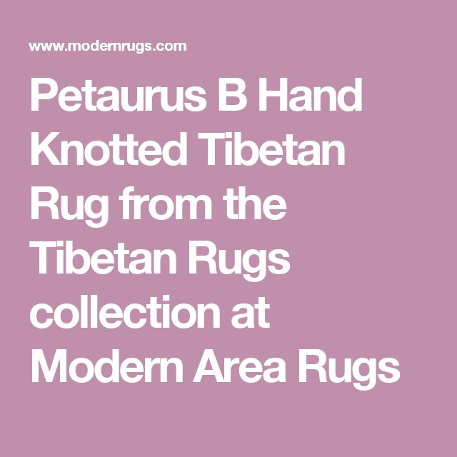 Petaurus B Hand Knotted Tibetan Rug from the Tibetan Rugs collection at Modern Area Rugs