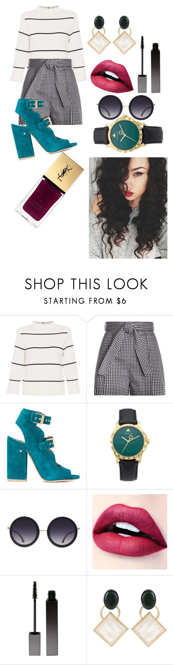 """""""Marina"""" by jolilollie on Polyvore featuring L.K.Bennett, Zimmermann, Laurence Dacade, Gucci, Alice + Olivia, Serge Lutens, Marni and Yves Saint Laurent"""
