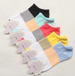 Удобные носки женщины сладкие конфеты цвет спортивные Носок Тапочки 10 пара/лот A600 Бесплатная Доставка