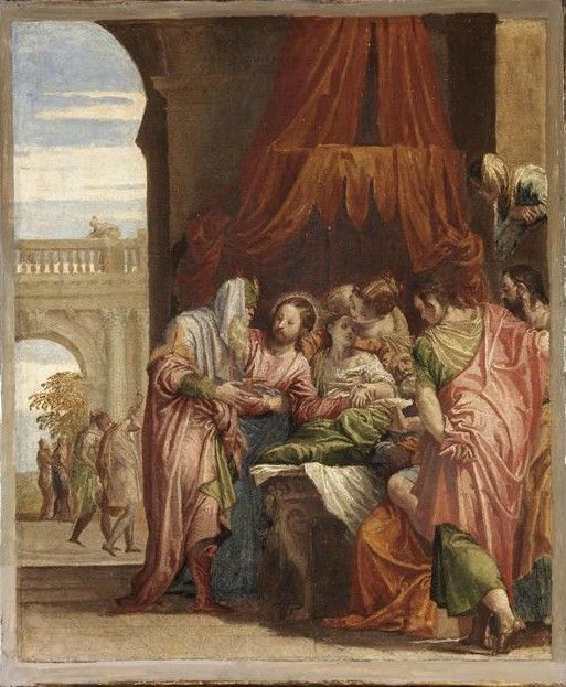 Raising of the Daughter of Jairus / La Résurrection de la fille de Jaïre // circa 1546 // Paolo Caliari, il Veronese // Louvre Museum // #Jesus #Christ