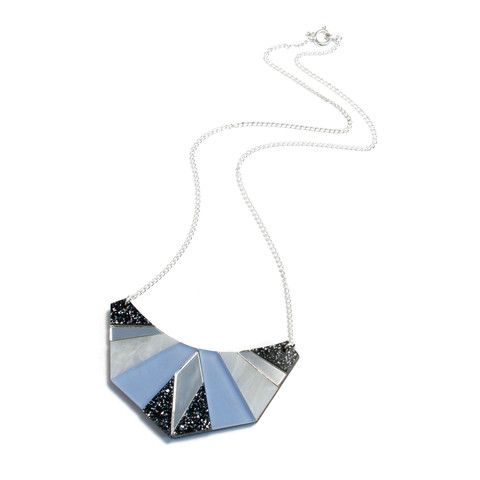 Please note this item will be shipped 2-3 days after order is placed. A bright, bold geometric necklace.  Add some colour to your wardrobe!