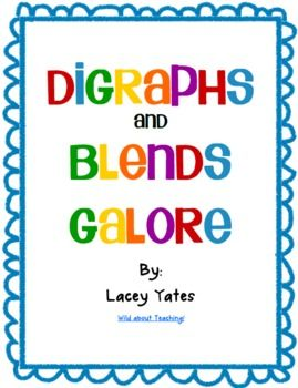 Digraphs and Blends Galore! Free! 34 pages!