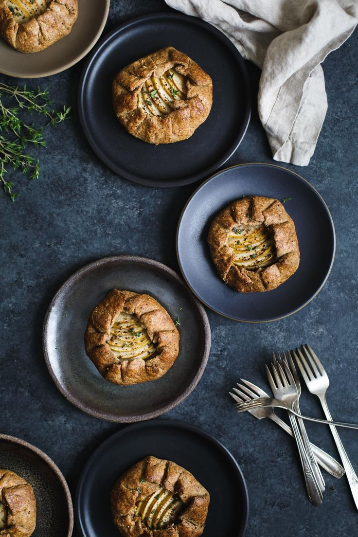 Apple, Cheddar, & Caramelized Onion Galettes with Gluten-Free Buckwheat Crust