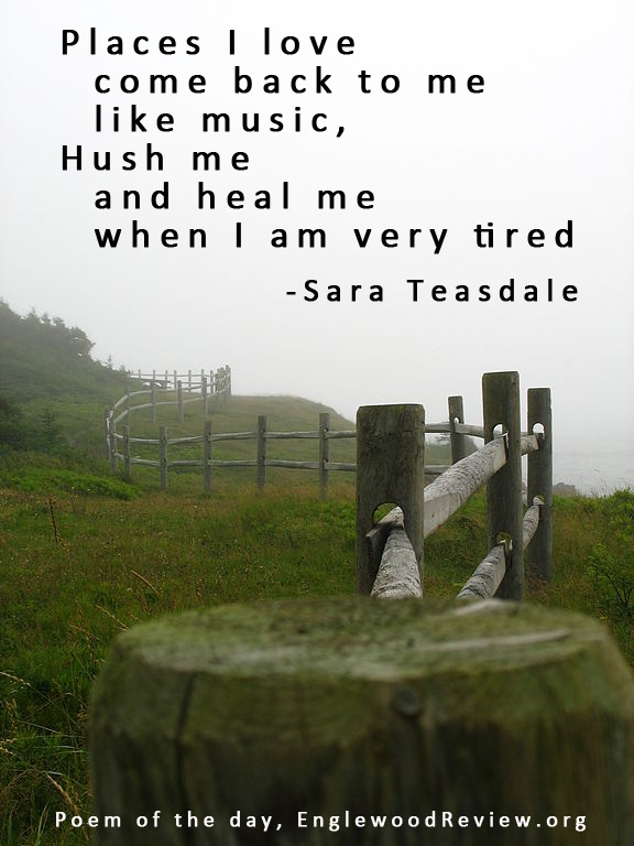 Places - Sara Teasdale  Any book of poetry by my favorite poet, Sara Teasdale is worth reading.