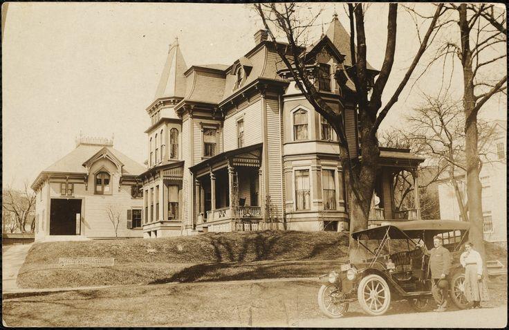 Forbe's farm & new automobile, Methuen, Mass., April 13, 1911