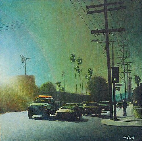 "Joby Hickey ""Los Angeles"" #losangeles #USA #irishart #sunshine"