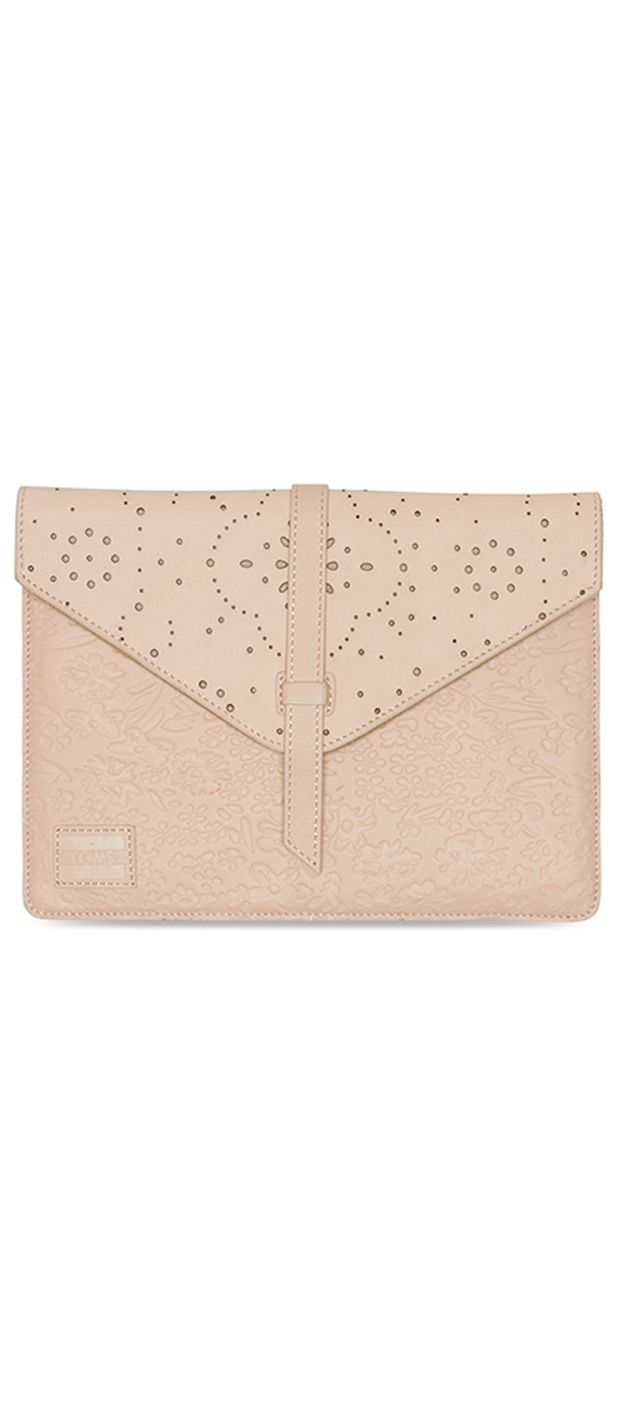 A clutch from the new TOMS bag collection