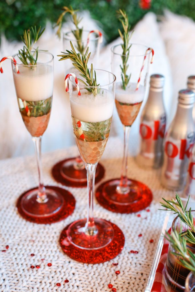 Christmas Drinks Alcohol.Stylish Christmas Party Drink Display From
