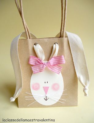 bunny gift bags using ribbon for ears~tutorial