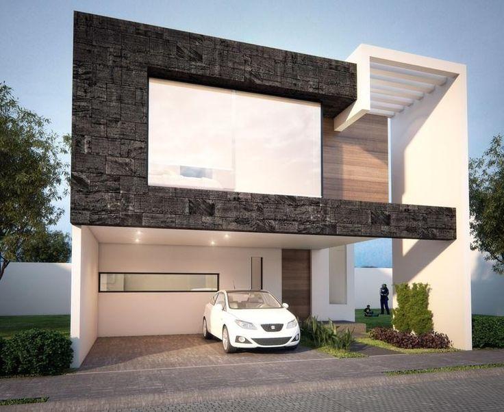 Las 25 mejores ideas sobre fachadas de casas modernas en for Casa minimalista rustica
