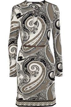 Etro Paisley-print stretch-crepe dress   NET-A-PORTER