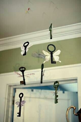 HP/Flying keys from a scene in J K Rowling's Sorcerer's Stone -these as Christmas tree ornaments would be great!                                                                                                                                                                                 More