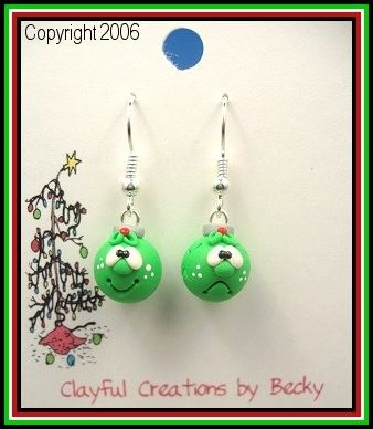 CHRISTMAS SALE Becky's Polymer Clay  Ornament por clayfulcreations