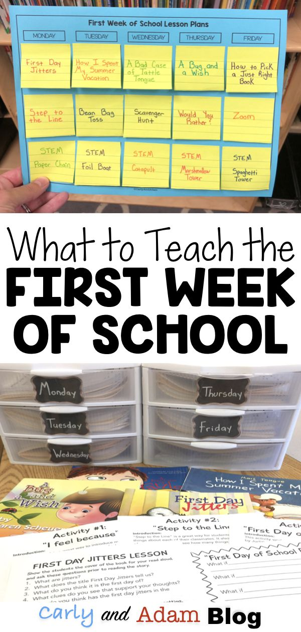 What Should You Teach During the First Week of School?