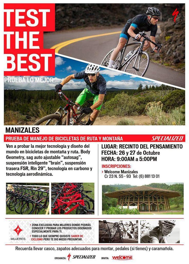Prepárate para el #TesttheBest en #Manizales