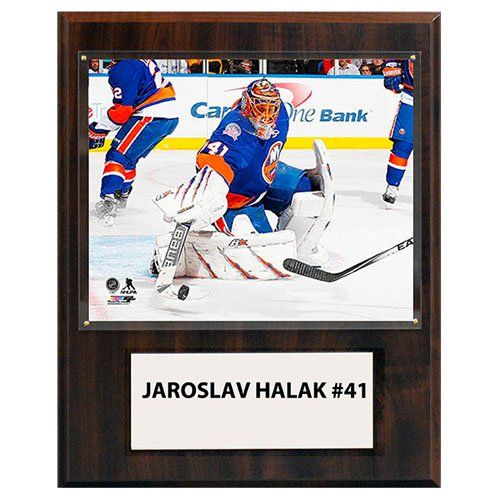 C and I Collectables NHL 15W x 12H in. Jaroslav Halak New York Islanders Player Plaque - 1215HALAKNYI