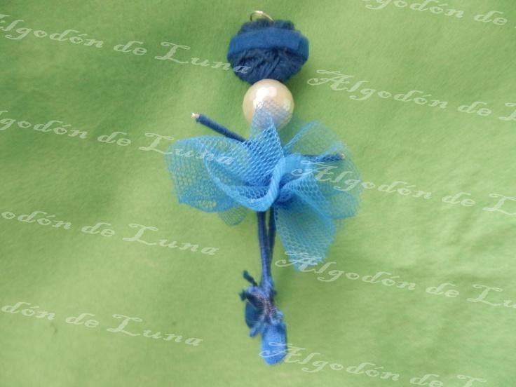 en Nácar en klein con perla de Algodón de Luna
