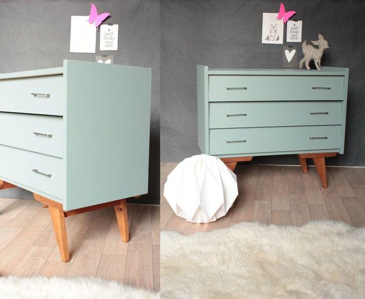 Commode vintage ann es 50 60 pieds compas inspiration mobilier de salon deco chambre et - Deco chambre annee 60 ...