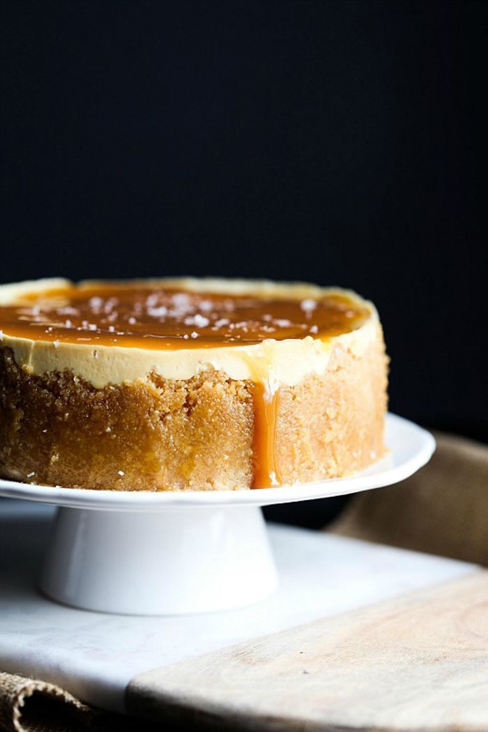 Instant Pot Pressure Cooker Salted Caramel Cheesecake.