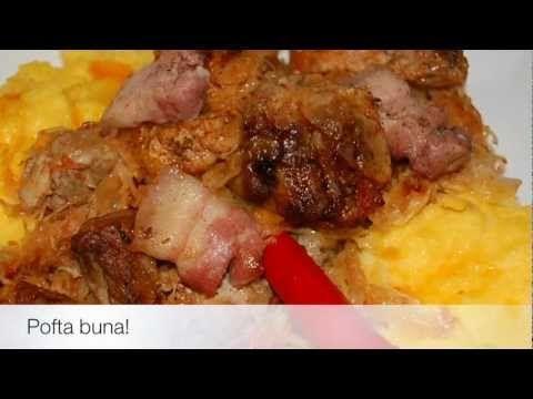▶ Varza calita la cuptor cu pulpa de porc si kaiser afumat - YouTube