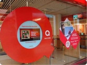 Signbox digital signs at OCBC Bank