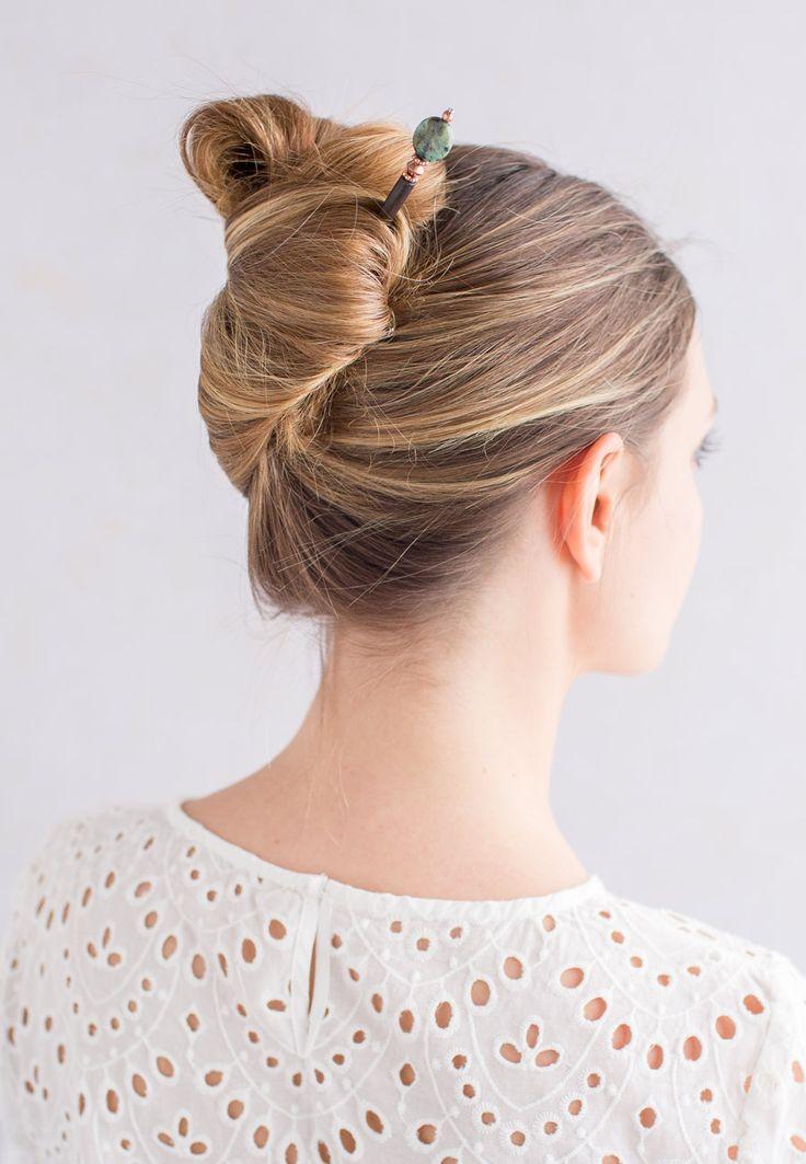 24 Best Hair Stick Styles Images On Pinterest Chopstick