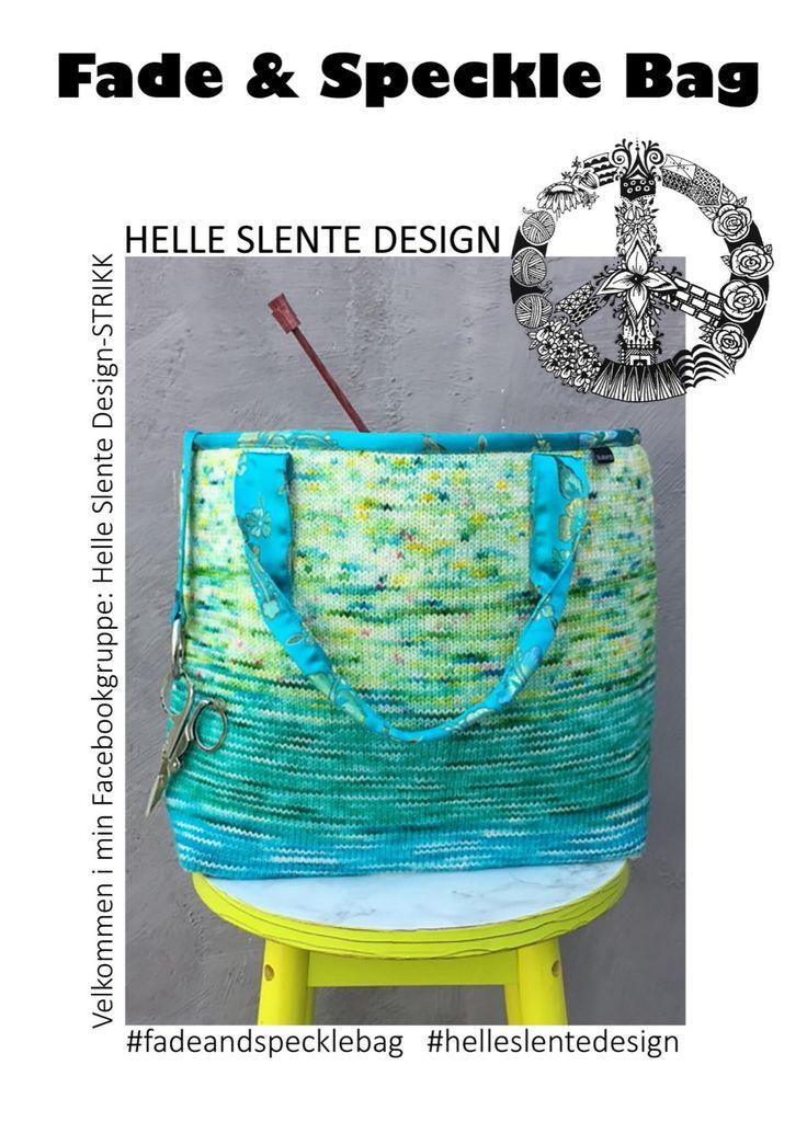FADE & SPECKLE BAG by Helle Slente Design | pattern launch September 2nd 2017 | hand dyed yarn by Helle Slente Design | Ravelry pattern