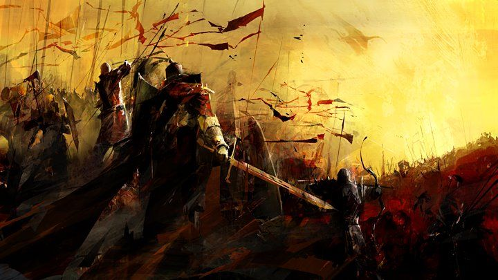 Battle Field red concept art by Richard Anderson