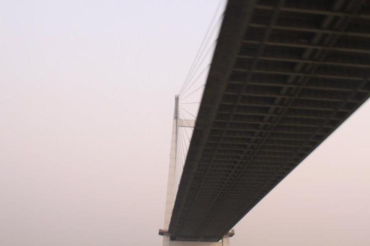 A view of Vidyasagar Setu, Kolkata (Nov 2011)