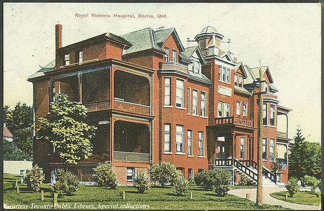 Royal Victoria Hospital, Barrie, Ontario, Canada Creator: Unknown Date: 1910