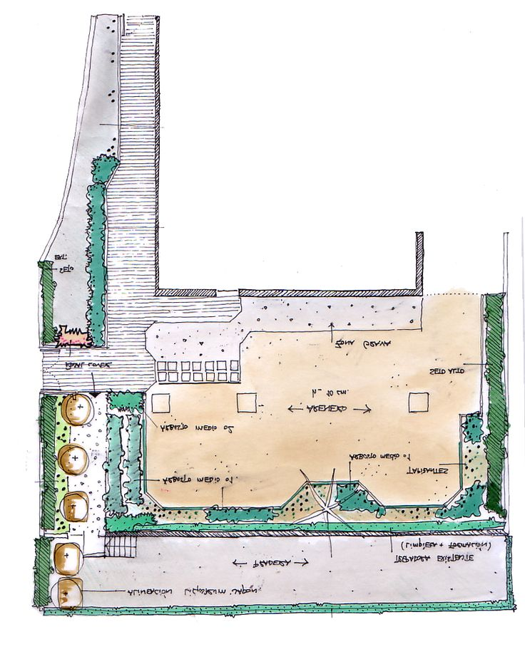 131 best dibujos croquis y planos de jardines images on for Plano habitacion