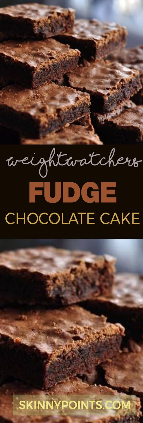 Fudge Chocolate Cake With Olny 5 Weight Watchers Smart Points