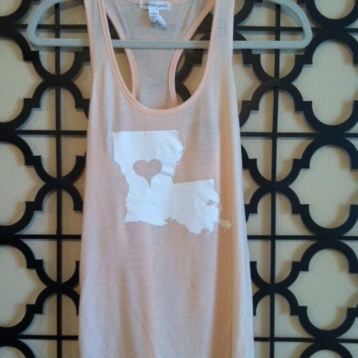 Hazel & Olive / Love Louisiana Tank Peach. Love/need this!!