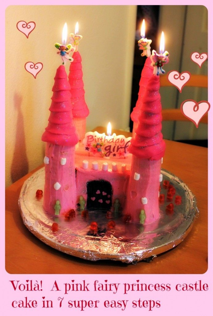 7 super easy steps for an imperfect, tasty fairy princess castle cake...every little girl's dream!