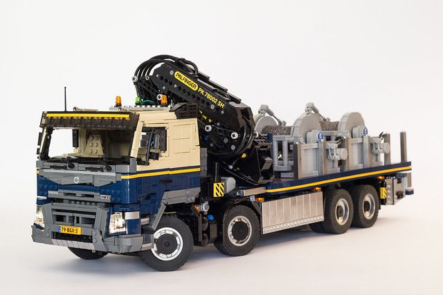 Volvo Fmx With Palfinger Pk78002 Sh In 2020 Lego Cars Volvo Lego