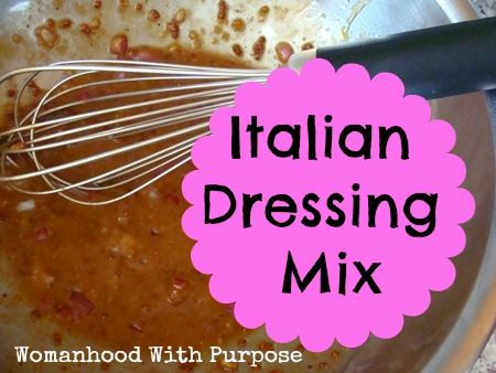 ... salad dressings here s an excellent option for an italian dressing mix