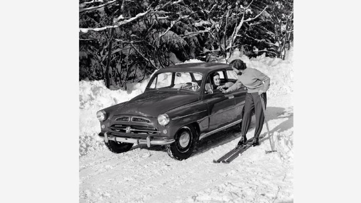 A winter car advertisment should have emphasised versatility and toughness of Skoda cars.