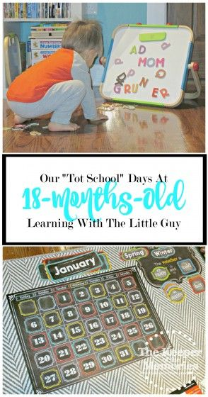 """Not too long ago, I discovered the concept of """"Tot School."""" Of course this creative mama's all like """"Where do I sign up?"""" After all, I'm always up for learning through play. Do you have a toddler? If you're curious what our """"Tot School"""" days look like at 18-months-old, check out this post where we share our daily routine as well as our favorite activities."""