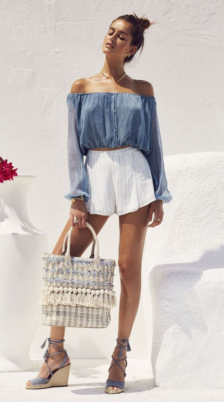 c5b15b3eec 56 Cool Ways To Wear Shorts For Summer 2019  summeroutfits  summerstyle