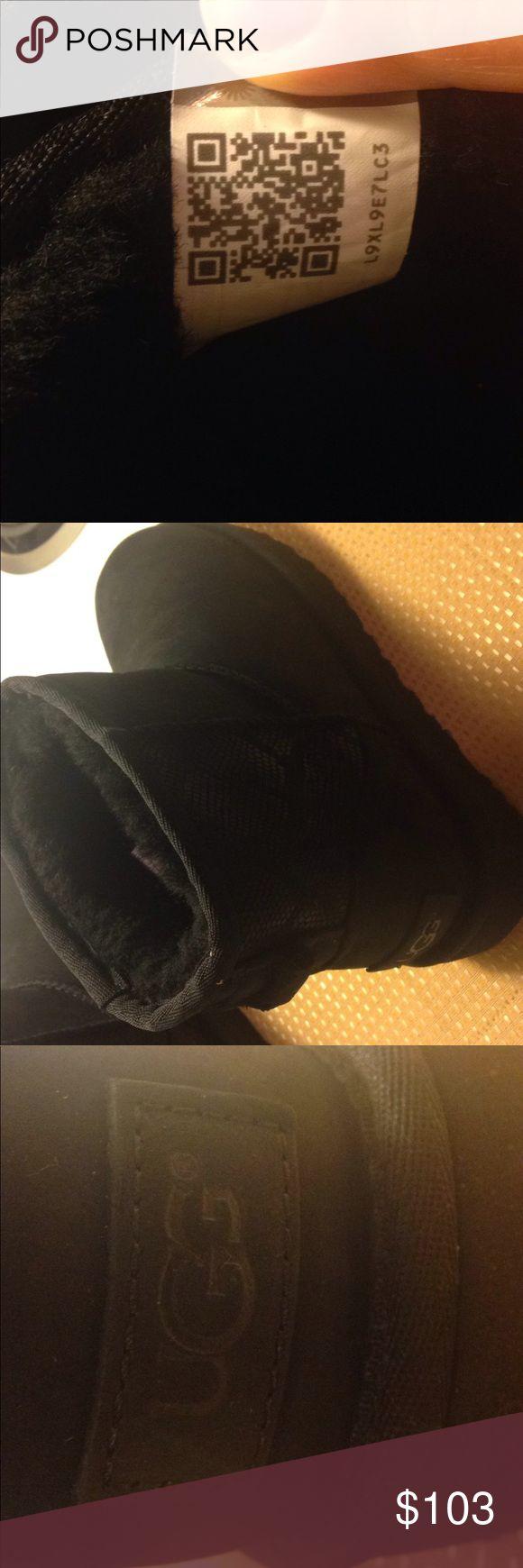 Brand new mini II nubuck UGG boots Authentic UGG mini boot with snake skin panel on back. Brand new, beautiful! Super cute! UGG Shoes Winter & Rain Boots
