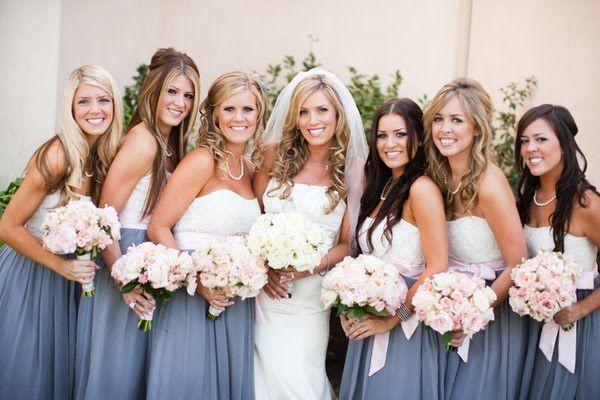 gray and light pink wedding ideas | Decorella: Gray and Pink Wedding