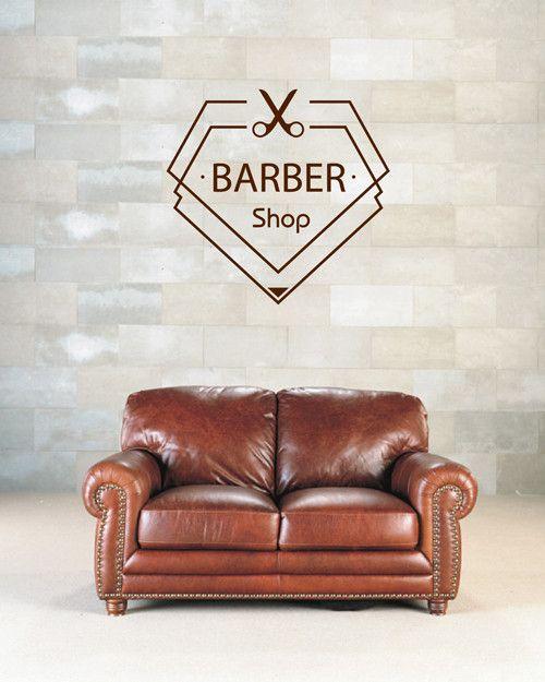 ik2010 Wall Decal Sticker barbershop hairdresser strict design men's hair salon